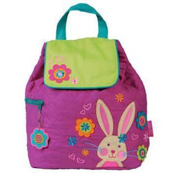 Personalized Quilted Stephen Joseph Backpack Bunny