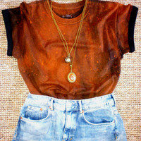Unisex Oversized Acid Wash Grunge T-shirt Top