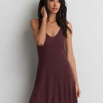 AEO Pointelle Tank Sweater Dress , Purple