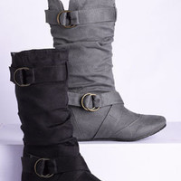 dELiAs > Cailyn Buckle Boot > shoes > boots under $39.50