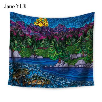 JaneYU Home Decoration Tapestry Wall Hanging Hippie Throw Bohemian Bedspread Cover Set Tapestries each towel blanket