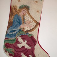 eBlueJay: Victorian Angel Tapestry Christmas Stocking Holiday Home Decor