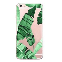 Newest Customized Banana Leaf Case Cover for iPhone 7 7 Plus & iPhone 5s se & iPhone 6 6s Plus + Gift Box-462-170928