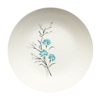 Ceramic Taylorstone Floral Plate / Kitchen Dish / Vintage Housewares / Made in USA by Taylor Smith & Taylor