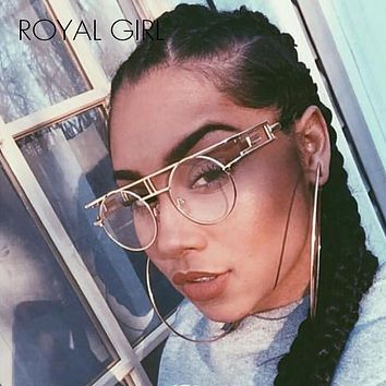 ROYAL GIRL Quality Metal Frame Steampunk Sunglasses
