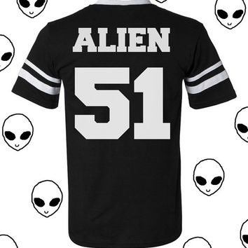 Alien Unisex Jersey Football Grunge Area 51 Shirt (PREORDER)