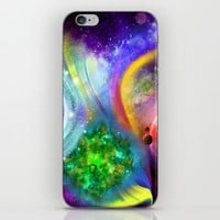 Rainbow space iPhone & iPod Skin by Haroulita | Society6