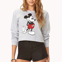 Cropped Mickey Mouse Sweatshirt
