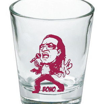 Bono U2 music rock band Shot Glass LIMITED EDITION