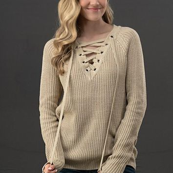 Sweet Heart Sweater- Taupe