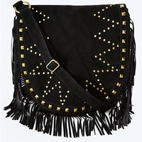 Faux Suede Studded Crossbody | rue21