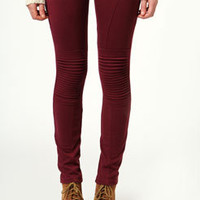 Anya Stitched Detail Motorcycle Jeggings