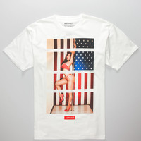 Ayc American Bars Mens T-Shirt White  In Sizes