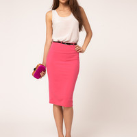 Summer Sweets Stretch Cotton Pen Dress Waistband Skirt [6048485697]