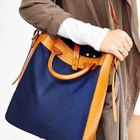 Artemis Leather + Canvas Tote Bag-