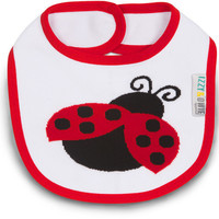 Red and Black Ladybug Bib