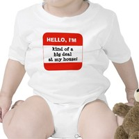 Cute Kids; RED Name Tag, Hello I'm (add your own)