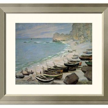 Monet, Boats on the Beach at Étretat, Paintings