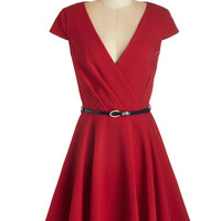 Closet Nautical Mid-length Cap Sleeves Fit & Flare Afternoon Aperitifs Dress