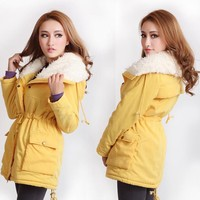 Korean Style Candy Color Warm Women Coat coat new arrival free shipping