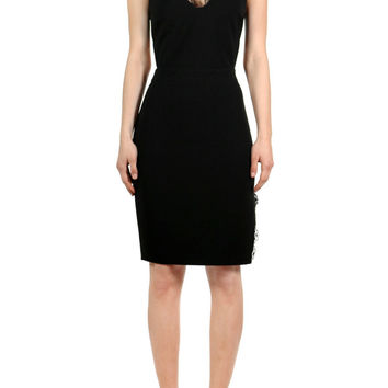 Dolce Lace Accent Dress - Black