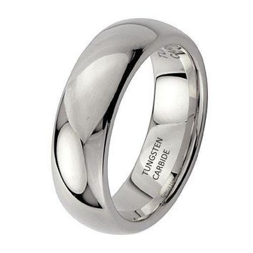 6mm Tungsten Wedding Band (Platinum)
