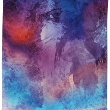 ROSC Watercolor Shower Curtain