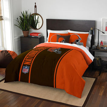 Cleveland Browns NFL Full Comforter Set (Soft & Cozy) (76 x 86)