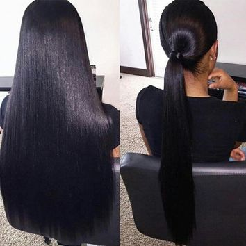 Full Lace Straight Human Hair Wigs