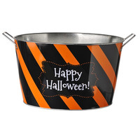 Happy Halloween Metal Bucket
