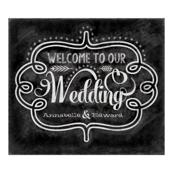 Welcome to our wedding chalkboard sign posters