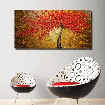 100% Handpainted Several Colors Designed Unique Gift Home Decoration Wall Art Picture Acrylic Paint For Artwork Big Size