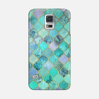 Cool Jade & Icy Mint Decorative Moroccan Tile Pattern Galaxy S5 case by Micklyn Le Feuvre | Casetify
