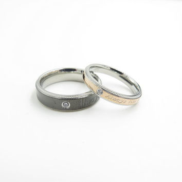 2pcs,always Rings, love ring, love the ring, the ring, ring of love, love rings, free engraving