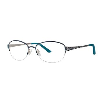 Dana Buchman - Eugenia 54mm Teal Silver Eyeglasses / Demo Lenses