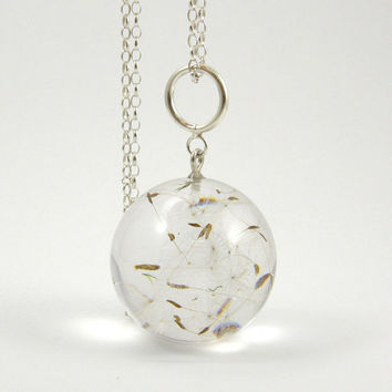 SALE  20 Off  Bridal Dandelion Seeds Resin and Silver by sisicata