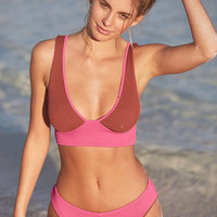 Out From Under Shelly Colorblocked Bikini Top - Urban Outfitters