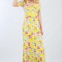 May Flowers Maxi Dress - Yellow