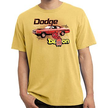 Dodge T-shirt Distressed Demon Pigment Dyed Tee