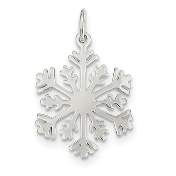 Sterling Silver Polished Snowflake Charm QC4750