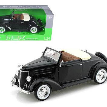1936 Ford Deluxe Cabriolet Black 1-24 Diecast Car Model by Welly