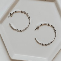 Textured Hoops (Silver)