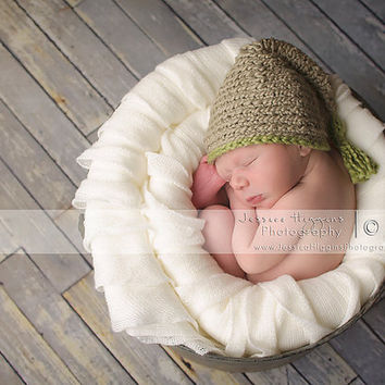 Baby Boy Hats, Crocheted Newborn Hat, Newborn Hats, Gnome Hat, Cotton Newborn Hat, Newborn Photo Props, Crochet Infant Hat