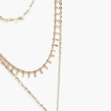 Plus Moon Layered Choker Necklace | Boohoo