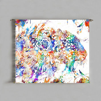 tapestry wall art prints gift geometric abstract painting poster wall tapestry wall hanging bohemian decor psychedelic tapestry leopard art