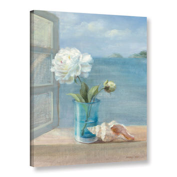 ArtWall Danhui Nai's Coastal Floral 1, Gallery Wrapped Canvas   Overstock.com Shopping - The Best Deals on Gallery Wrapped Canvas