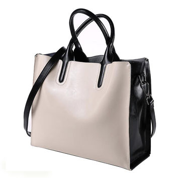 Women Genuine Leather Bags Handbags Women's Bucket Brand Designer Handbag High Quality Tote Shoulder Messenger Bags Dollar Price