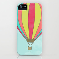 IT'S TIME TO EXPLORE- HOT AIR BALLOON iPhone & iPod Case by Allyson Johnson