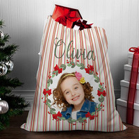 Personalized Santa Sack - canvas santa sack - santa sack - christmas bag - canvas gift bag - Santa bag with name - Santa bag with photo