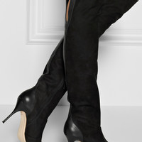 Sophia Webster | Hallie nubuck over-the-knee boots | NET-A-PORTER.COM